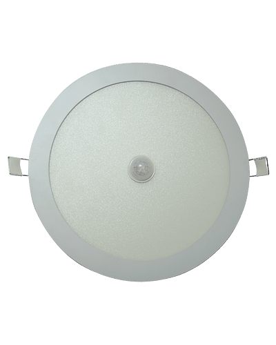 PANEL LED REDONDO EMBUTIDO 18W CON SENSOR MOVIMIENTO IP33 BLANCO