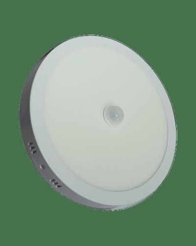 PANEL LED CIRCULAR SOBREPUESTO 18W CON SENSOR MOVIMIENTO 6500K IP40