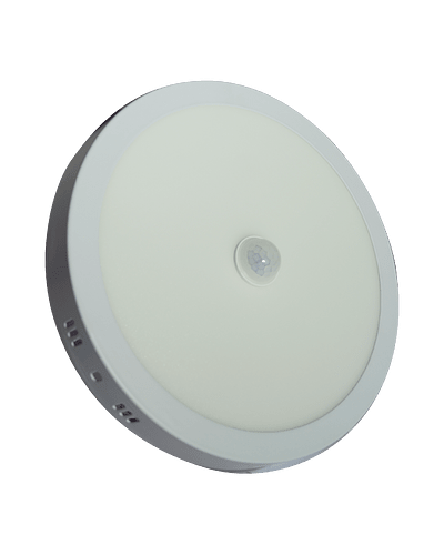 PANEL LED CIRCULAR SOBREPUESTO 18W CON SENSOR MOVIMIENTO 6500K IP40