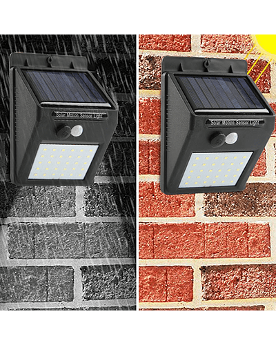 APLIQUE LED SOLAR 5W LUZ FRÍA 500 LM IP65