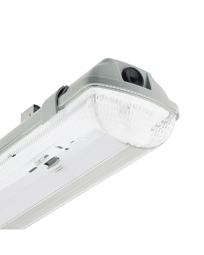 CANOA LED HERMÉTICA 2X18W IP65 IK07 1200 MM. PC C/TUBOS