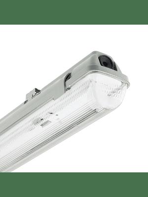 CANOA LED HERMÉTICA 1X18W IP65 IK07 1200 MM. PMMA C/TUBOS
