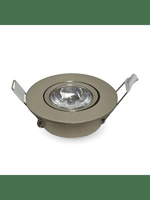 Foco Dicroico LED Embutido SMD 1W Niquel