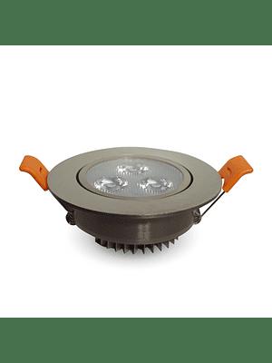 Foco Dicroico LED Embutido SMD 3W Niquel