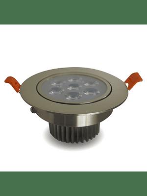 Foco Dicroico LED Embutido SMD 7W Niquel