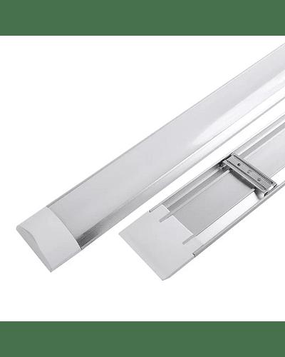 LUMINARIA LINEAL LED FLAT 40W 120 CM. C/ACCESORIOS PARA SUSPENDER