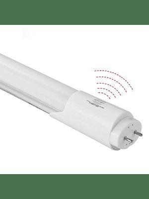 TUBO LED OPAL ALUMINIO 18W 120CM. 220V. C/ SENSOR 6500K