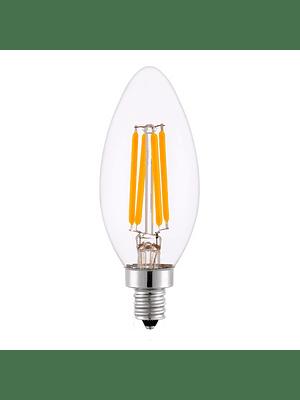 AMPOLLETA LED C35 VELA FILAMENTOS E14 4W