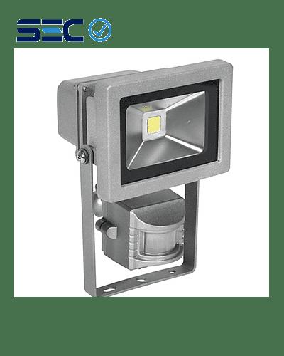 PROYECTOR LED COB 10W GRIS IP65 CON SENSOR DE MOVIMIENTO