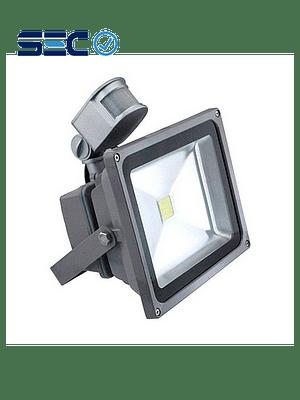 PROYECTOR LED COB 30W GRIS IP65 CON SENSOR DE MOVIMIENTO