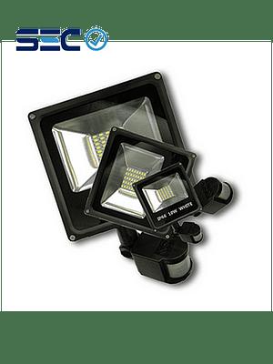PROYECTOR LED SLIM SMD 10W IP66 LUZ FRÍA C/ SENSOR DE MOVIMIENTO
