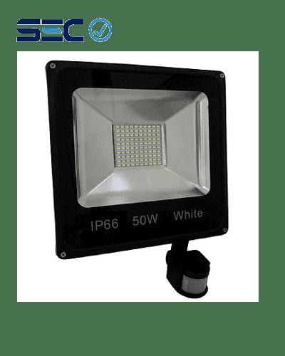 PROYECTOR LED SLIM SMD 50W LUZ FRÍA IP66 C/SENSOR DE MOVIMIENTO