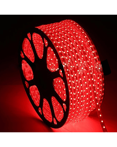 MANGUERA LED ROJA 1.65W/m 36 LEDs/m IP65 100 mt. 220V