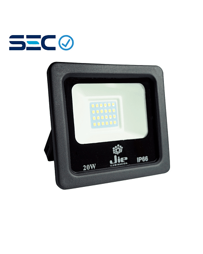 PROYECTOR LED ULTRA THIN 20W IP66 NEGRO