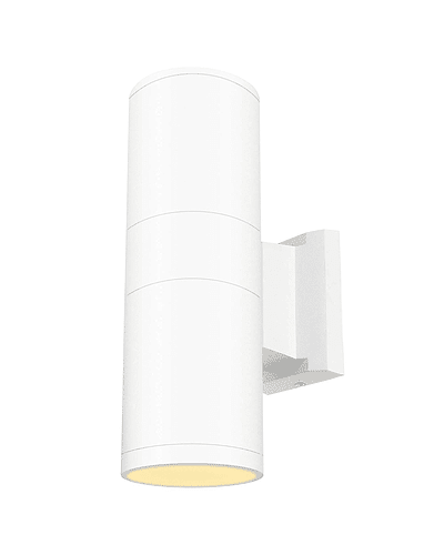 APLIQUE DECORATIVO BIDIRECCIONAL CILÍNDRICO 2XE27 IP65 BLANCO