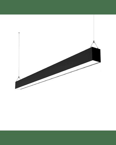 LINEAL LED SUSPENDIDA HYPERMARKET 40W 120 CM. NEGRO 3000K
