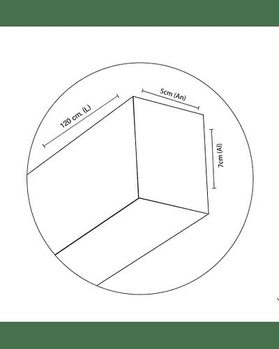 LINEAL LED SUSPENDIDA SUPERMARKET 40W 120 CM. IP44 NIQUEL