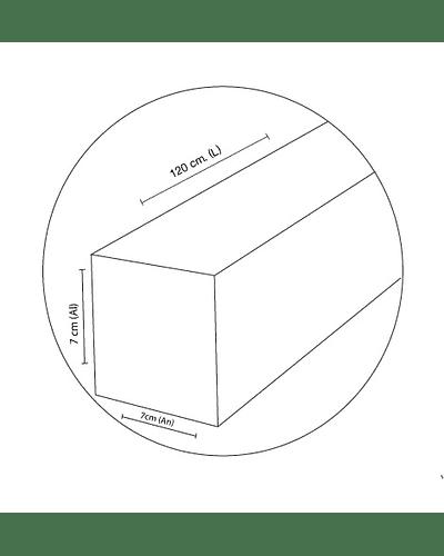 LINEAL LED SUSPENDIDA HYPERMARKET 40W 120 CM. IP44 NIQUEL