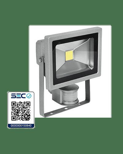 PROYECTOR LED COB 20W GRIS IP65 CON SENSOR DE MOVIMIENTO