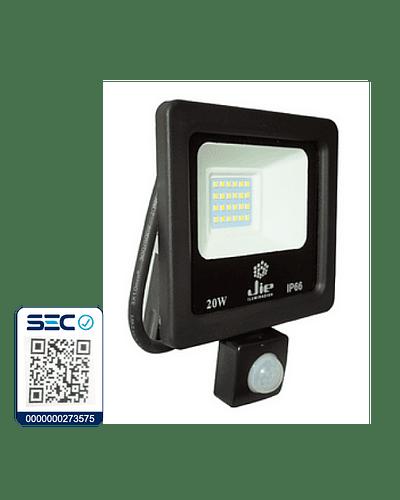 PROYECTOR LED ULTRA THIN SMD 20W IP66 LUZ FRÍA C/ SENSOR DE MOVIMIENTO