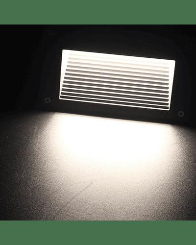 APLIQUE MURO EXTERIOR LED 6W IP65 NEGRO