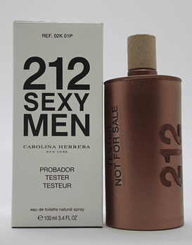 Carolina Herrera 212 Sexy Men EDT 100 ML Tester (H)