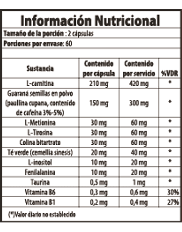 L-CARNITINE 120 CÁPSULAS