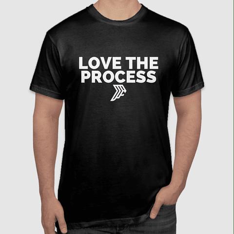 Love The Process Black T-Shirt