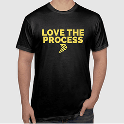 Love The Process Gold T-Shirt