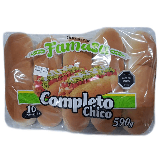 Pan de Completo Famasa 10 u 590 g