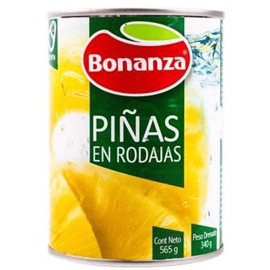 Piña en rodajas Bonanza 565 g