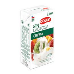 Crema Sin Lactosa Colun 1 Litro