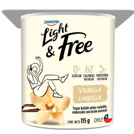 Yogur Danone Light and Free 115 g