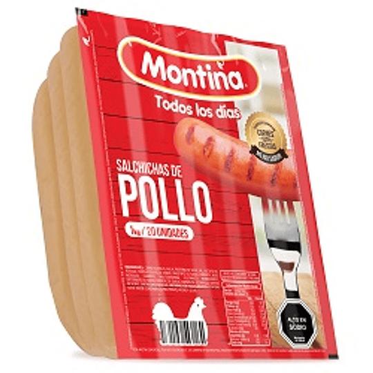 Salchicha de Pollo Montina 20 un