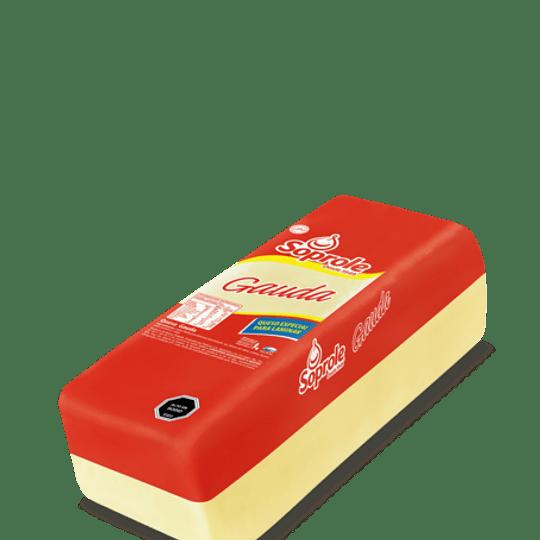 Queso Gauda Barra Soprole 250 g granel