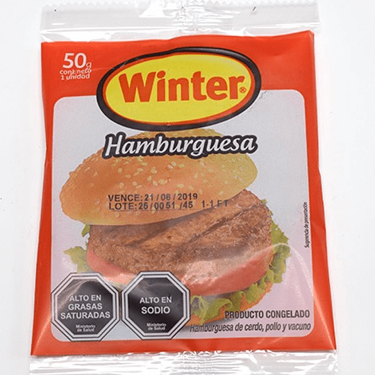 Hamburguesas Winter 50 g