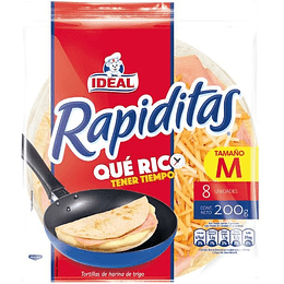 Tortillas rapiditas Ideal 8 un
