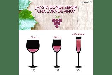 ¿Hasta dónde servir una copa de vino?