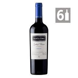 Pack 6 Merlot Select Terroir Reserva - Viña Santa Ema
