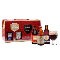 Pack 3 Chimay 330ml + 1 Copón - Bélgica