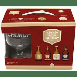 Pack 4 Mix Chimay 330 ml  + 1 copa de regalo - Bélgica