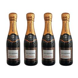 Pack 4 botellas 200cc Espumante Prosecco - Ricadonna