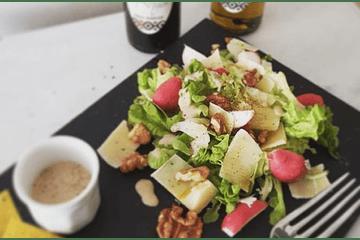 Ensalada con aceto trufado y aceite de trufa negra - Katankura