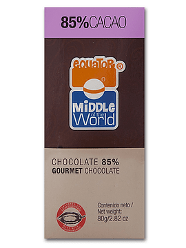 Chocolate Equator  72% cacao 80gr