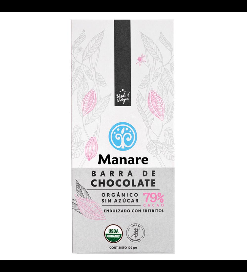 Barra de Chocolate orgánico 79% sugarfree