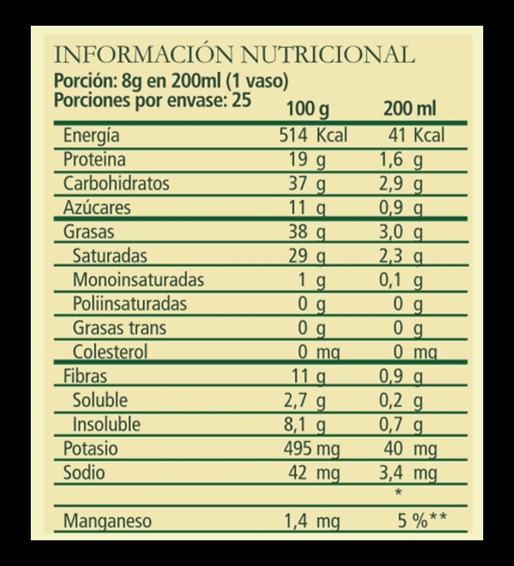 Leche Vegetal de Fresa, Aquasolar 200gr