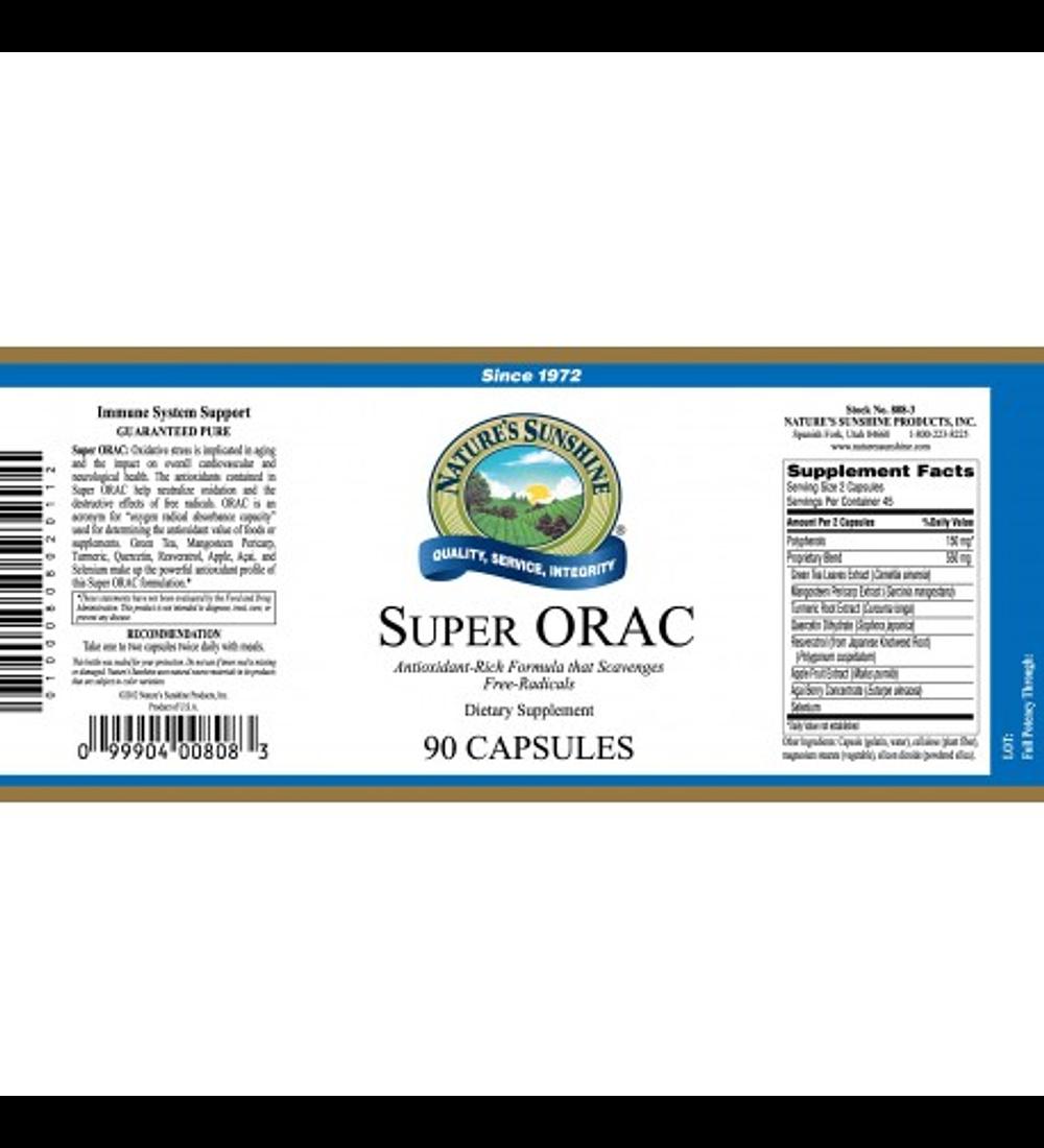 Super ORAC (resveratrol comp.) Antioxidante de Nature's Sunshine