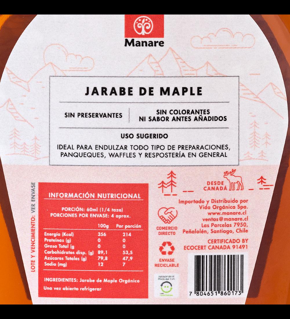 Jarabe de Maple orgánico Manare 250ml