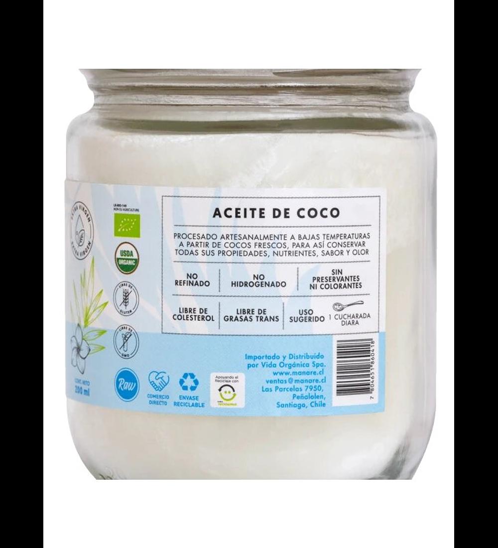 Aceite de coco orgánico Manare 200ml
