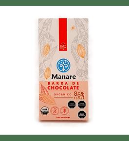 Barra de chocolate orgánico 85% cacao